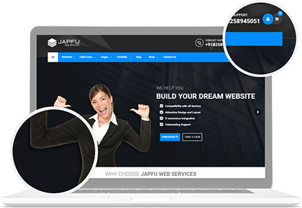 Japfu Web Developement Features